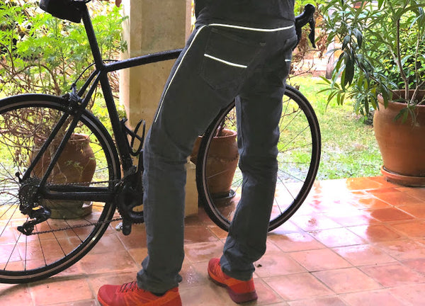mens cycling jeans / commuter jeans made from Cordura denim