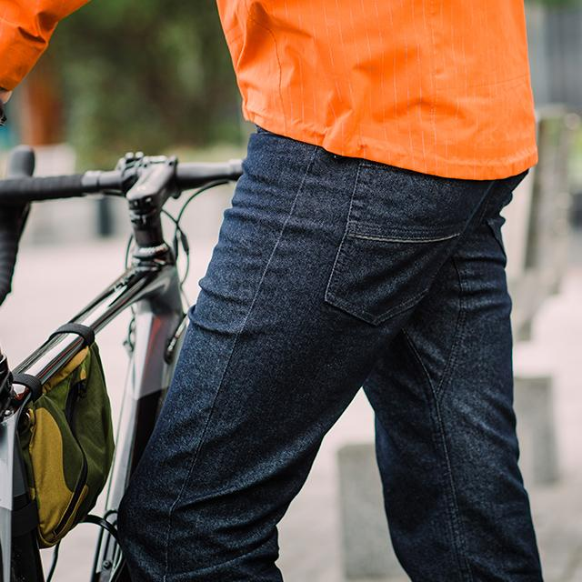 Resolute Bay PHYSICAL (NEW) Indigo CORDURA® NX5 Jeans (Water-Resistant) cycling commuter jeans reflective jacket