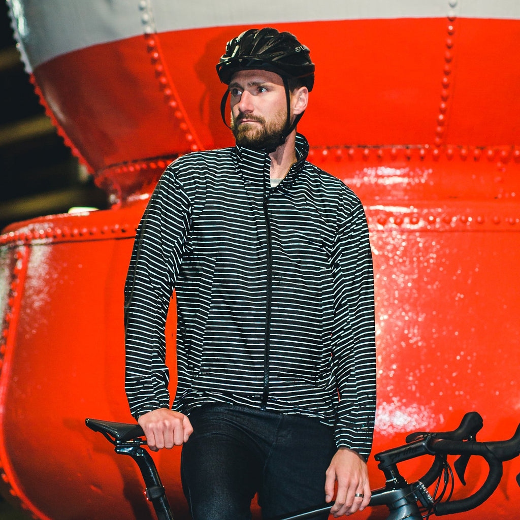 Resolute Bay PHYSICAL Red Reflective Cycling Jacket cycling commuter jeans reflective jacket