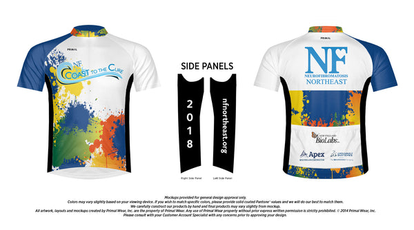 2018 Coast to the Cure NF Bike Ride Paint Splash Jersey