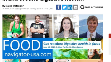 Kara Landau to feature in Digestive Health Webinar on FoodNavigator-USA
