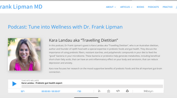 NY Time Best Selling Author Frank Lipman MD Interviews Uplift Food Founder Kara Landau