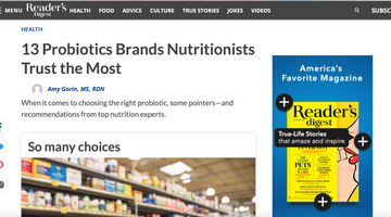 Nutrition Experts Most Trusted Probiotic Brands - Uplift Food Readers Digest Feature
