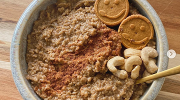 Prebiotic Fiber Gingerbread Oatmeal