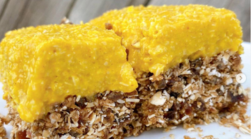 Prebiotic Fiber Raw Lemon and Tumeric Cheesecake