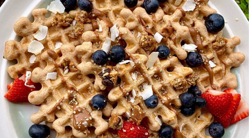 @Wholesomely_Hannah Daily Uplifter Gut Happy Waffle Recipe!