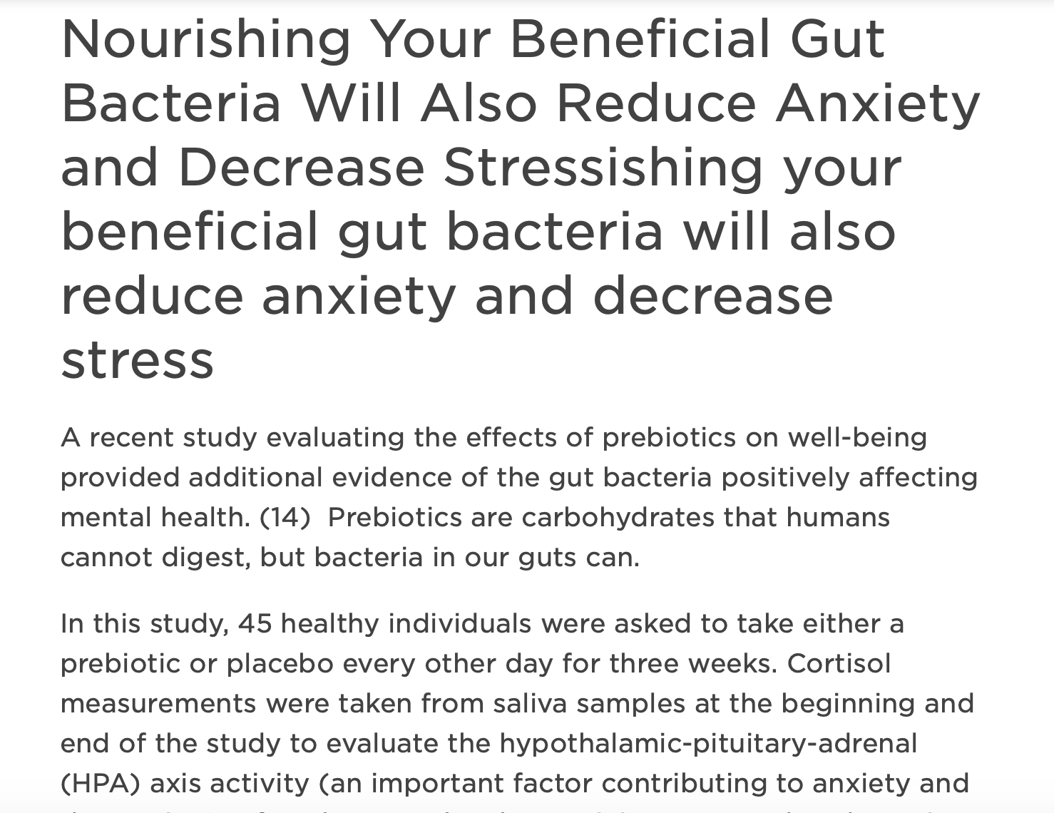 Uplift Food prebiotics gut health chris kresser psychobiotic education