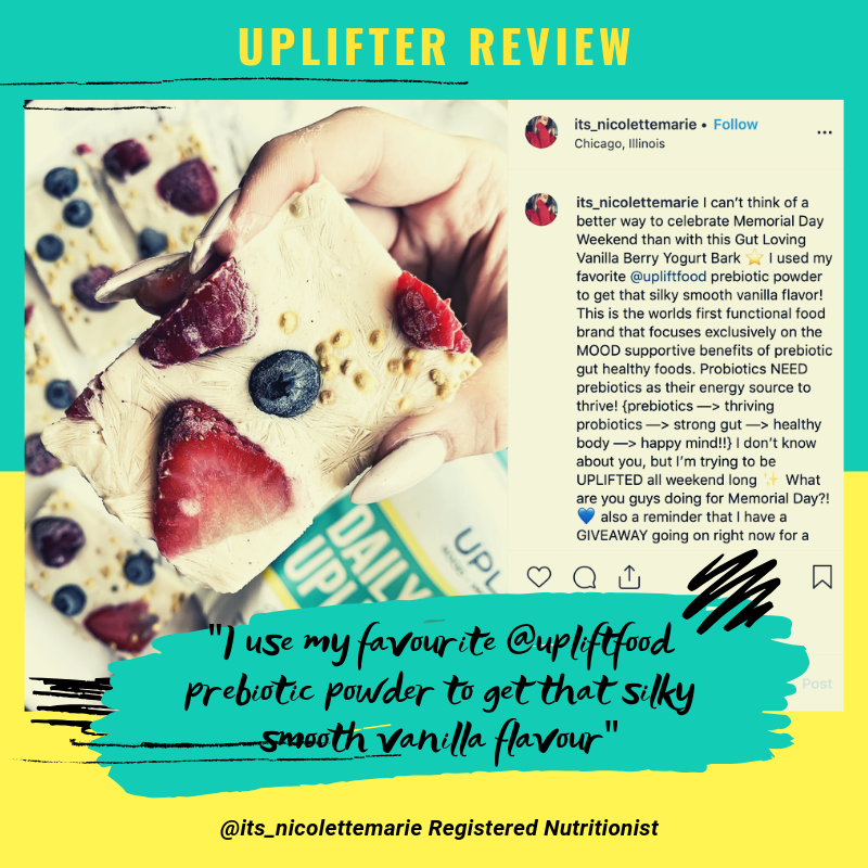 Uplift Food Daily Uplifter prebiotic psychobiotic powder review