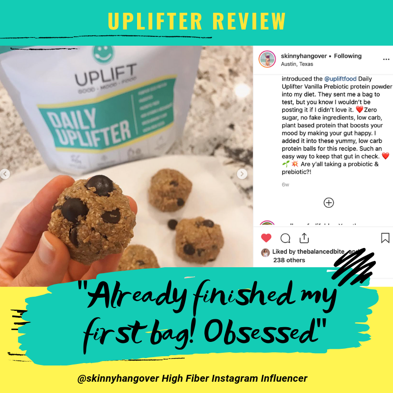 uplift food prebiotic supplement fiber supplement @skinnyhangover customer review