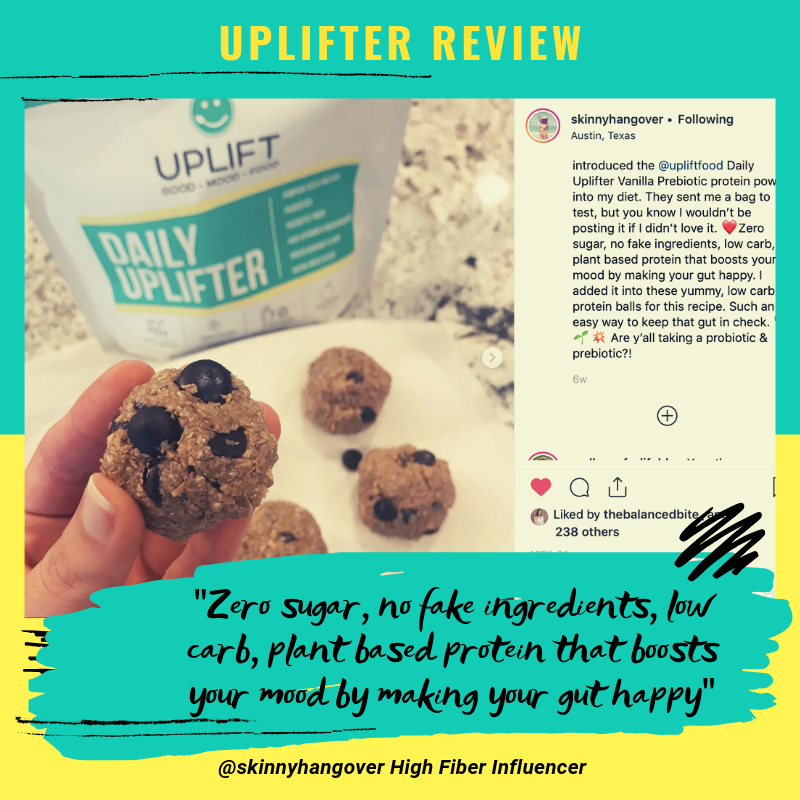 uplift food daily uplifter prebiotic supplement customer review psychobiotic powder