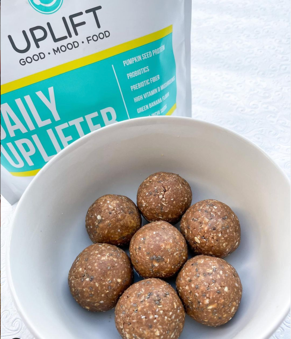 uplift food daily uplifter prebiotic supplement gut health psychobiotic high in prebiotic fiber gut healthy snacks gut healthy cookies