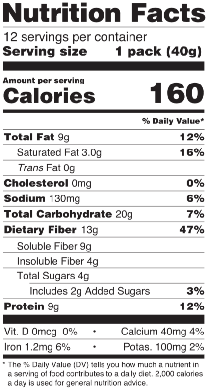 gut happy cookies nutrition facts panel salted peanut butter chocolate coconut