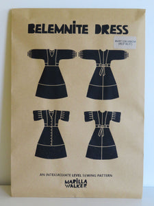 PAPER Belemnite dress SIZE RANGE 2 sewing pattern