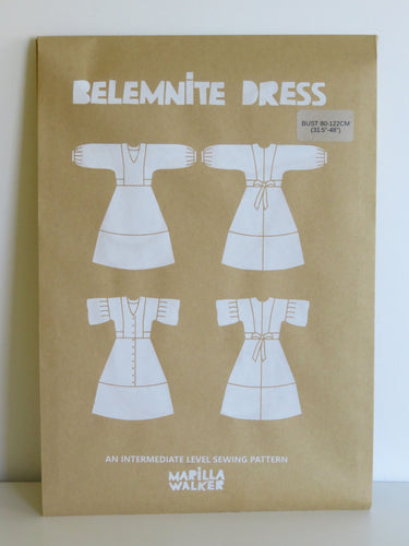 PAPER Belemnite dress SIZE RANGE 1 sewing pattern
