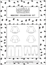 Load image into Gallery viewer, PDF Mercury collection sewing pattern