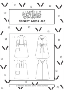 PDF Bennett dress sewing pattern