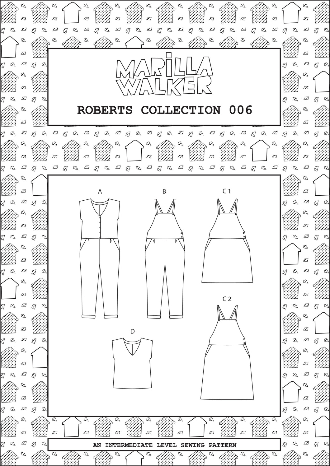 2a. PDF Roberts collection sewing/dress making pattern
