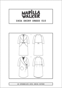 PDF Isca shirt dress sewing pattern