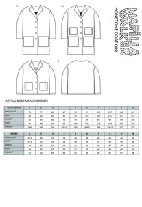 PAPER Honetone coat sewing pattern