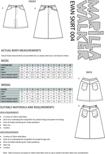 PDF Evan skirt sewing pattern