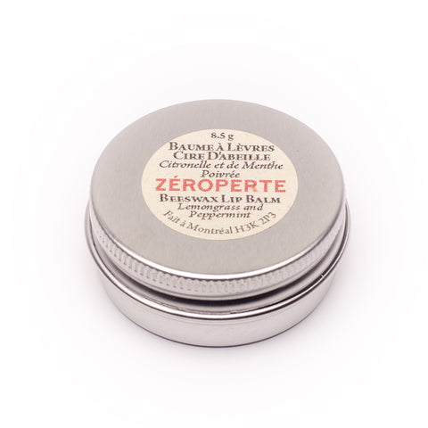Baume a lèvres cire d'abeille citronelle et menthe-Beeswax Lemongrass and Peppermint Lip Balm