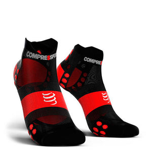 Calcetines Pro Racing Socks RUN Low Ultralight V3 Negro/Rojo