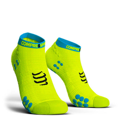 Calcetines Pro Racing Socks RUN Low V3 Amarillo Flúo