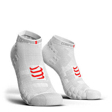 Calcetines Pro Racing Socks RUN Low Smart V3 Blanco