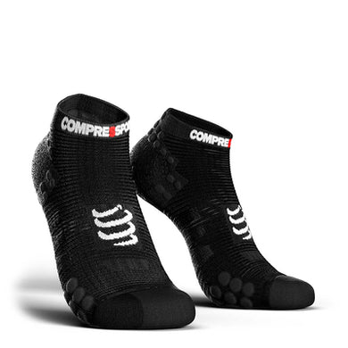 Calcetines Cortos de Running Pro Racing Socks v3.0 Smart Negro - Compressport