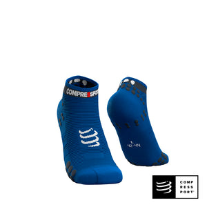 Calcetines Pro Racing Socks v3 Run Low Blue Lolite - Compressport