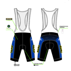 Culote de Ciclismo / Corto / Pro-Am / Unisex / Animal Team
