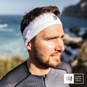 Nuevo Headband Delgado On/Off Blanco - Compressport
