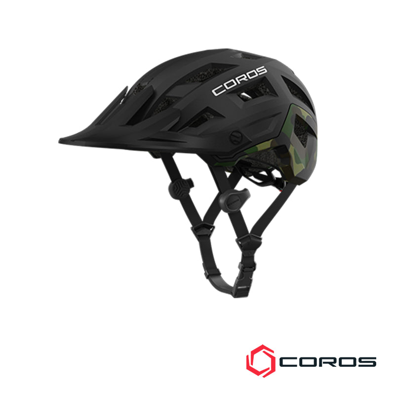 Casco de ciclismo SafeSound Mountain Bike Coros Negro/Camo