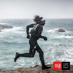Nuevos Pantalones Hurricane Waterproof 10/10 Negros Compressport