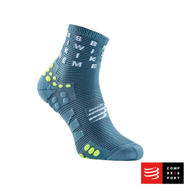 Calcetines Pro Racing Socks Run High v3 Gris - BORN TO SWIMBIKERUN 2020 Compressport