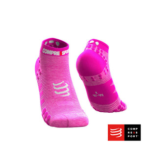Calcetines COMPRESSPORT Pro Racing Socks Run Low V3 Pink/Melange