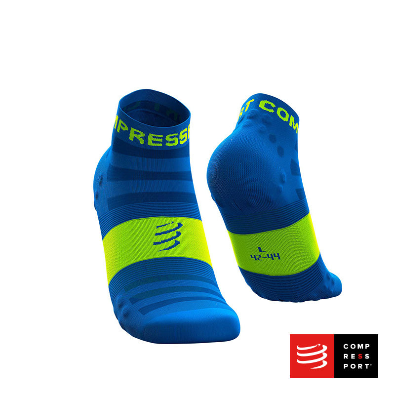 Calcetines COMPRESSPORT Pro Racing Socks Run Low Ultralight V3 Fluo/Blue