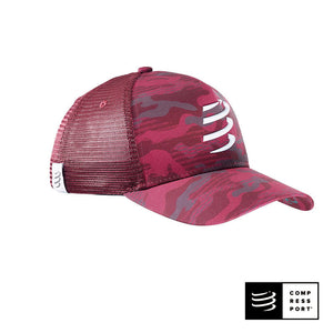 Trucker Cap COMPRESSPORT Burgundy - CAMO NEON 2020