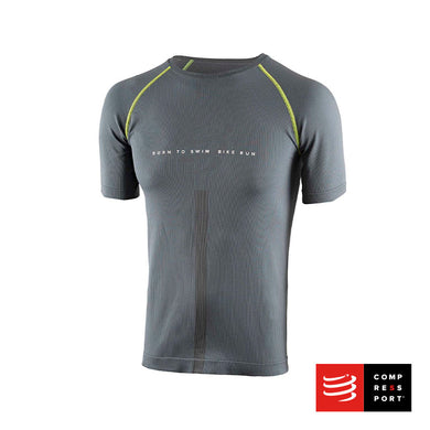 Training Tshirt SS Gris - BORN TO SWIMBIKERUN 2020