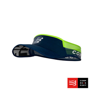 Visera Compressport Ultralight Azul/Lima