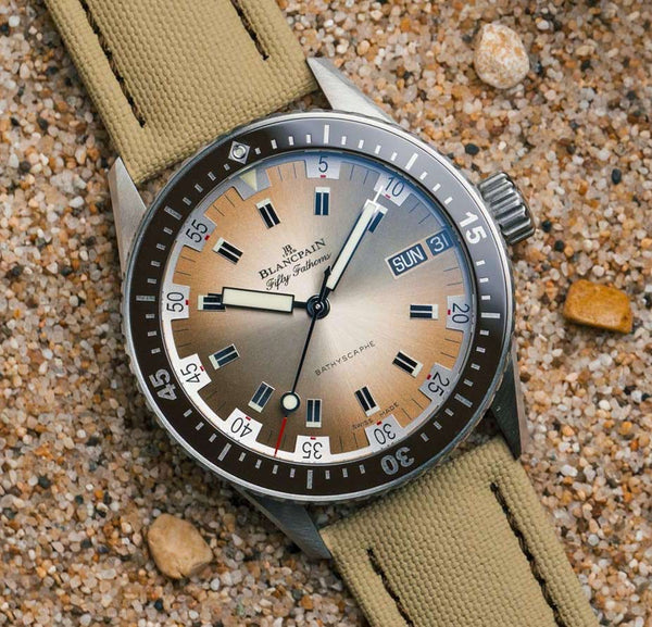 Blancpain Fifty Fathoms Bathyscaphe Day Date Desert
