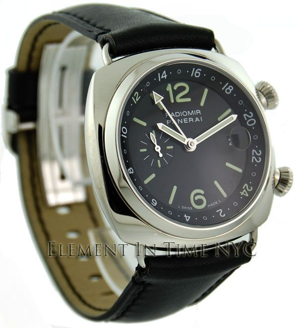 Radiomir Stainless Steel 42mm GMT JLC Cal.