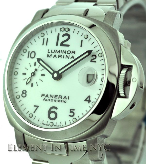Luminor Marina 40mm Stainless Steel White Arabic Dial
