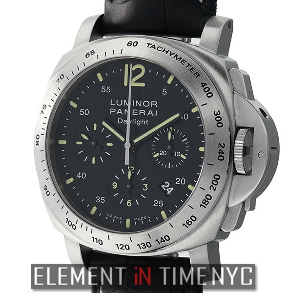 Luminor Daylight Chronograph Steel 44mm Black Dial 2008