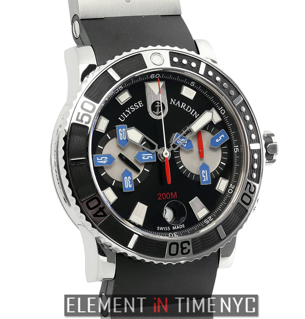 Chronograph Stainless Steel Black Dial 43mm 2015