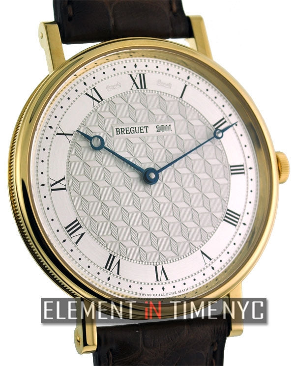 18k Yellow Gold Manual Wind Silver Dial 41mm