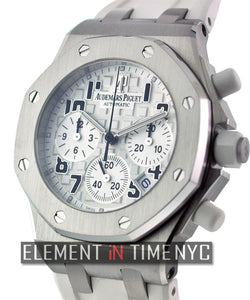 Chronograph Steel Silver Dial 37mm