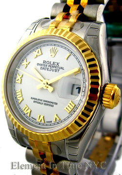 Steel / Yellow Gold White Dial 26mm