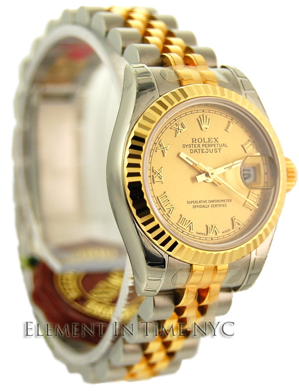 Stee / Yellow Gold Champagne Dial 26mm