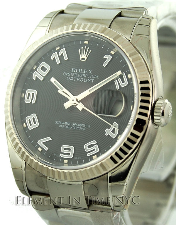 Stainless Steel Black Dial 36mm